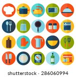 cooking tools and kitchenware... | Shutterstock .eps vector #286060994