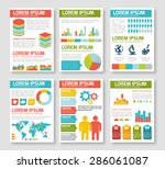 flat infographic elements set.... | Shutterstock .eps vector #286061087