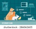 Постер, плакат: Veterinary clinic banner with