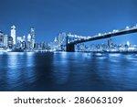 Manhattan Skyline And Brooklyn...