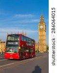 london  uk   july 07  big ben ... | Shutterstock . vector #286064015