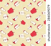 seamless pattern with  red... | Shutterstock .eps vector #286069079