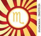 yellow icon with zodiac scorpio ...