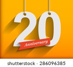20 anniversary numbers with... | Shutterstock .eps vector #286096385