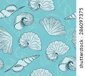 vector illustration of seamless ... | Shutterstock .eps vector #286097375