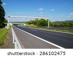 electronic toll gate above an... | Shutterstock . vector #286102475