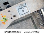 exotic concrete counter top and ... | Shutterstock . vector #286107959