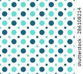 blue polka dot pattern ...   Shutterstock .eps vector #286108214