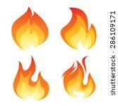 set of color flame icon | Shutterstock .eps vector #286109171