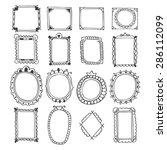 vintage hand drawn frames. ... | Shutterstock .eps vector #286112099