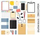 big set of flat design items... | Shutterstock .eps vector #286114904