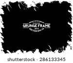 grunge frame. vector template | Shutterstock .eps vector #286133345