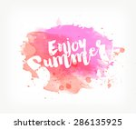 vector hand painted watercolor... | Shutterstock .eps vector #286135925