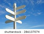 Direction Sign With Blank...