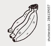 banana doodle   Shutterstock .eps vector #286139057