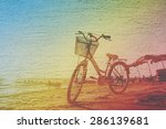 Blurred Bicycle On The Beach In ...