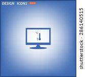 thermometer. icon. vector design | Shutterstock .eps vector #286140515