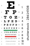 medical eye chart | Shutterstock .eps vector #28614508