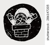 santa claus doodle | Shutterstock .eps vector #286147205