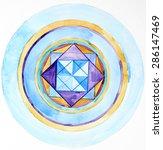 hand painted pattern mandala.... | Shutterstock . vector #286147469