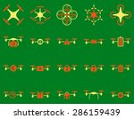 air drone and quadcopter tool... | Shutterstock .eps vector #286159439