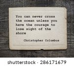 You Can Never Cross The Ocean...