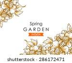 spring garden collection.... | Shutterstock .eps vector #286172471