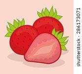 fruits design over red... | Shutterstock .eps vector #286173071