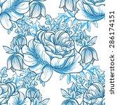 spring garden collection.... | Shutterstock .eps vector #286174151