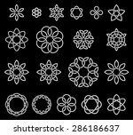 19 flower like knots collection ... | Shutterstock .eps vector #286186637