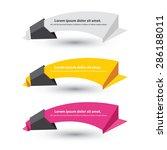 vector set of origami paper... | Shutterstock .eps vector #286188011