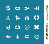 arrow direction icon set | Shutterstock .eps vector #286189931