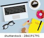 workplace organization. top... | Shutterstock .eps vector #286191791
