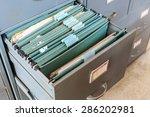file folders in a filing cabinet | Shutterstock . vector #286202981