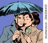 Rain Man And Woman Under...