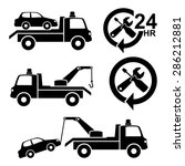 car towing truck icon.vector | Shutterstock .eps vector #286212881