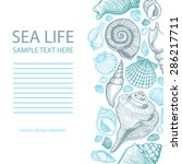 sea shells background with...   Shutterstock .eps vector #286217711