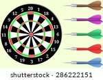 dartboard with set of colorful...   Shutterstock .eps vector #286222151