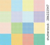 texture checkerboard colored.... | Shutterstock .eps vector #286222547