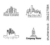 city buildings logo silhouette... | Shutterstock .eps vector #286227584