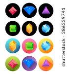 various precious stones in... | Shutterstock .eps vector #286229741