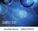 blue abstract background with... | Shutterstock .eps vector #286229921