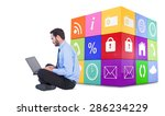 businessman sitting on the... | Shutterstock . vector #286234229