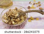 Постер, плакат: Walnuts hazelnuts and honey