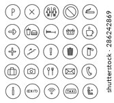 a set of vector icons flat line....