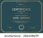 vector certificate template. | Shutterstock .eps vector #286248659