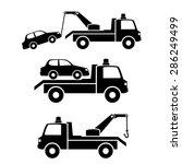 car towing truck icon.vector | Shutterstock .eps vector #286249499