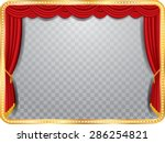 vector stage with red curtain ... | Shutterstock .eps vector #286254821