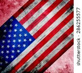 closeup of american flag on... | Shutterstock . vector #286255577