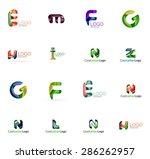 set of new universal company...   Shutterstock .eps vector #286262957